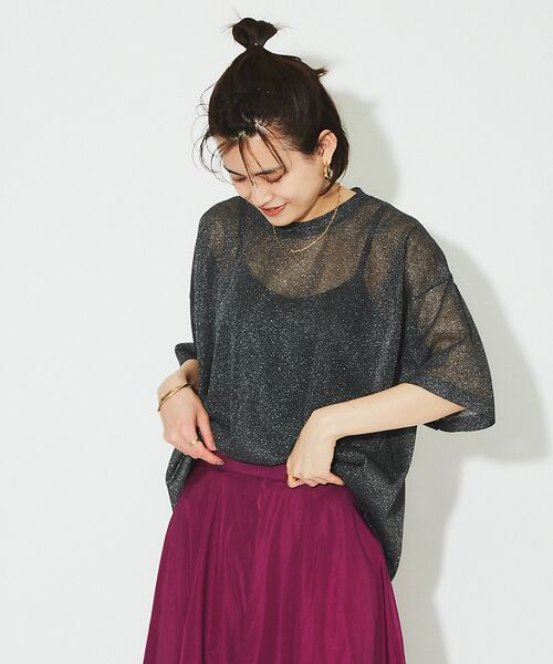 Rouge vif la cle / ルージュ・ヴィフ ラクレ ニット・セーター | シアーニットTシャツ【予約】 | 詳細11