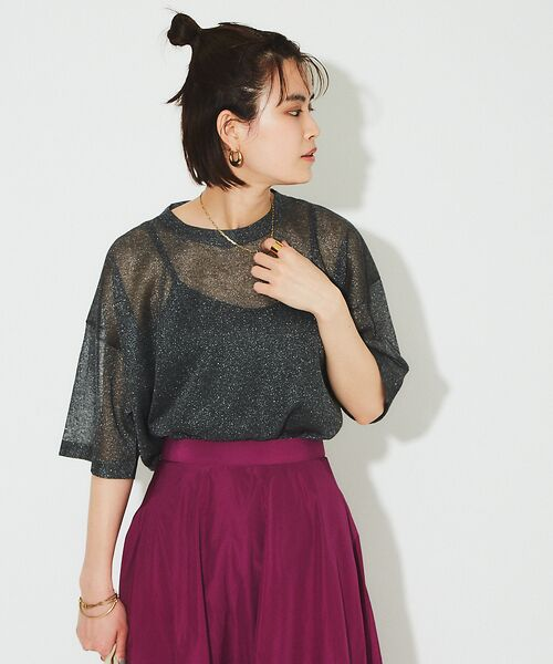 Rouge vif la cle / ルージュ・ヴィフ ラクレ ニット・セーター | シアーニットTシャツ【予約】 | 詳細12