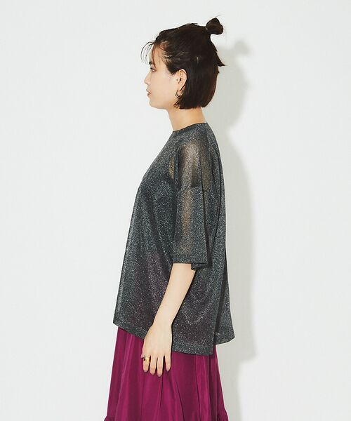 Rouge vif la cle / ルージュ・ヴィフ ラクレ ニット・セーター | シアーニットTシャツ【予約】 | 詳細13