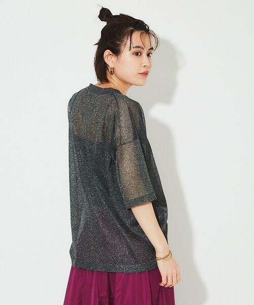 Rouge vif la cle / ルージュ・ヴィフ ラクレ ニット・セーター | シアーニットTシャツ【予約】(グレー)