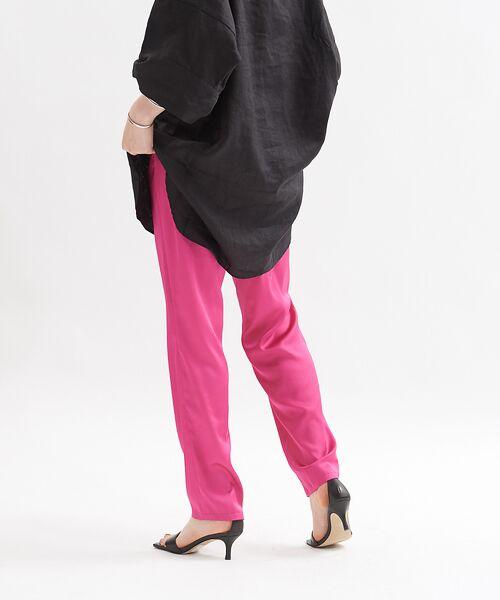 Rouge vif la cle / ルージュ・ヴィフ ラクレ パンツ   サテンイージーパンツ【予約】(ピンク)