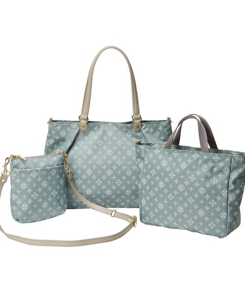 russet / ラシット トートバッグ | NEW 3 SET BAG【WEB LIMITED】(ライトブルー)