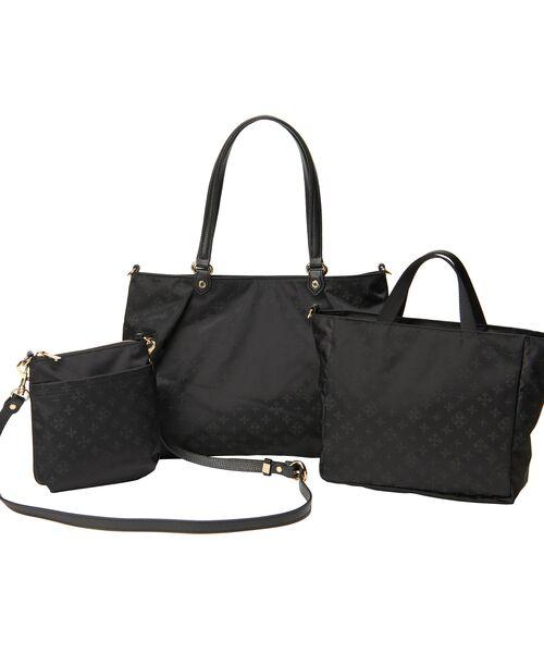 russet / ラシット トートバッグ | NEW 3 SET BAG【WEB LIMITED】(ブラック)