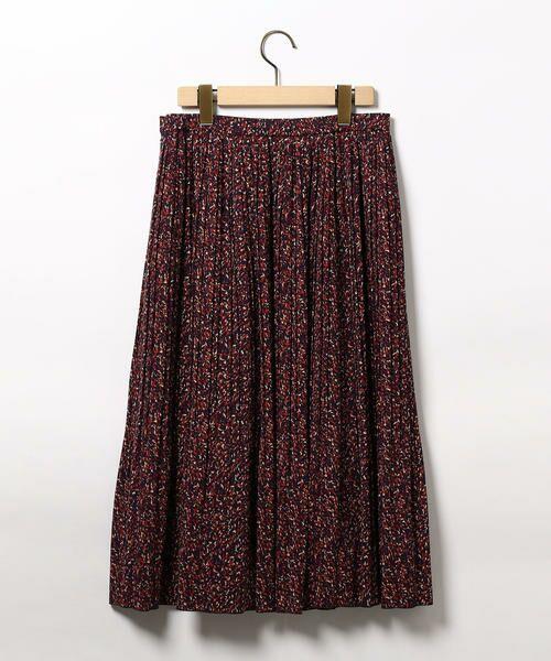 SCAPA / スキャパ ミニ・ひざ丈スカート | ミステリアスプリントスカート | 詳細4