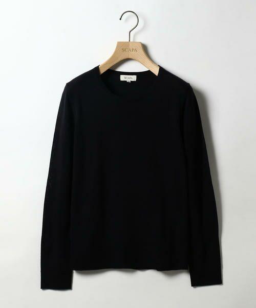 SCAPA / スキャパ ニット・セーター | カシウール 1ニット(ネイビー)