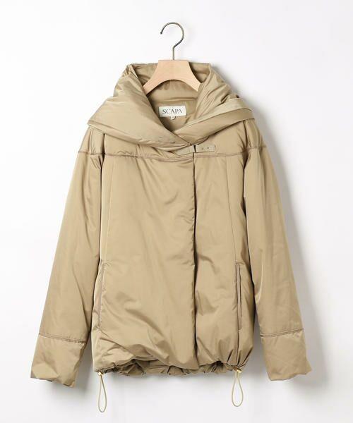 SCAPA / スキャパ テーラードジャケット | シトリンダウンジャケット(ブラウン)