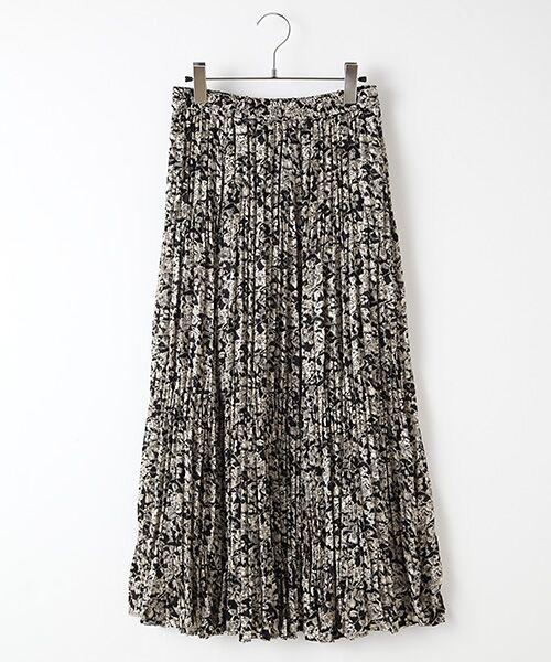 SEASON STYLE LAB / シーズンスタイルラボ ロング・マキシ丈スカート | プリーツスカート(ブラック)