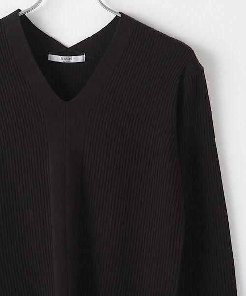 SEASON STYLE LAB / シーズンスタイルラボ ニット・セーター   V ネックデザインリブニット   詳細2