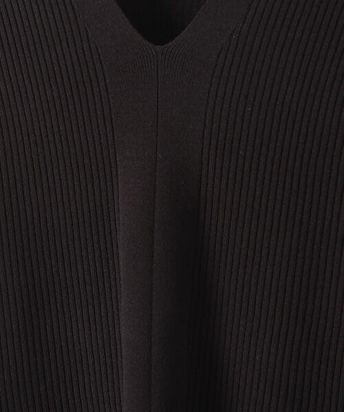 SEASON STYLE LAB / シーズンスタイルラボ ニット・セーター   V ネックデザインリブニット   詳細4