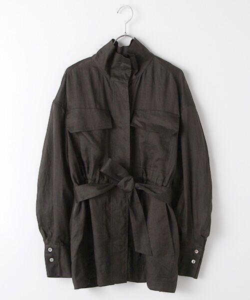 SEASON STYLE LAB / シーズンスタイルラボ シャツ・ブラウス   シャツジャケット(ブラック)