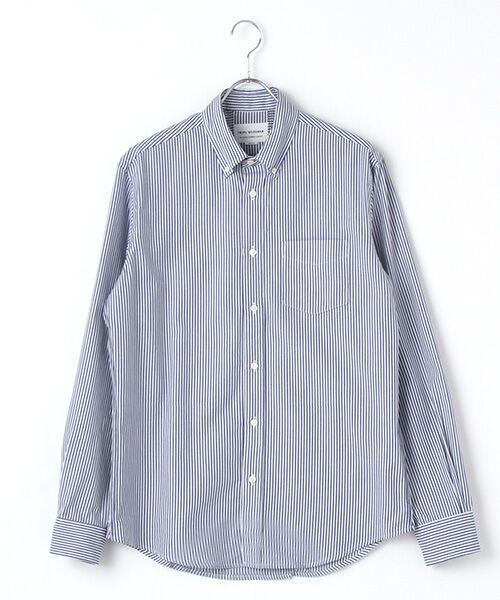 イギリス製クラシックボタンダウン ストライプコットンシャツ