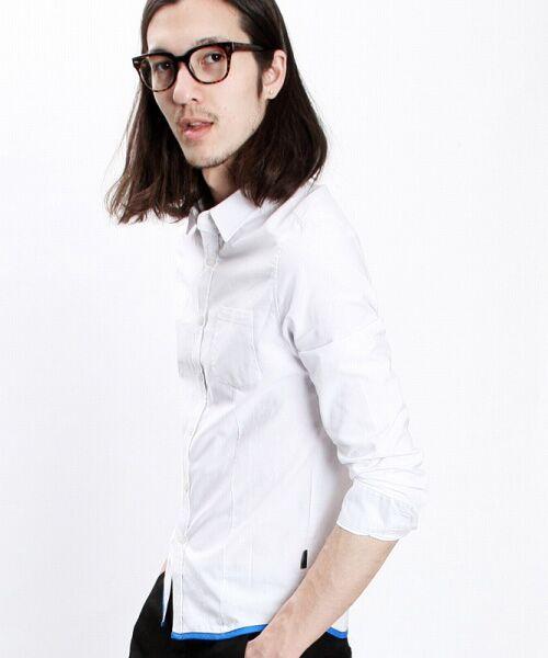 SHIFFON / シフォン シャツ・ブラウス | 【AKM Contemporary】裾カラーパイピングオックスシャツ | 詳細1