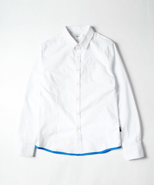 SHIFFON / シフォン シャツ・ブラウス | 【AKM Contemporary】裾カラーパイピングオックスシャツ | 詳細11