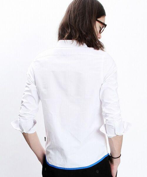 SHIFFON / シフォン シャツ・ブラウス | 【AKM Contemporary】裾カラーパイピングオックスシャツ | 詳細2