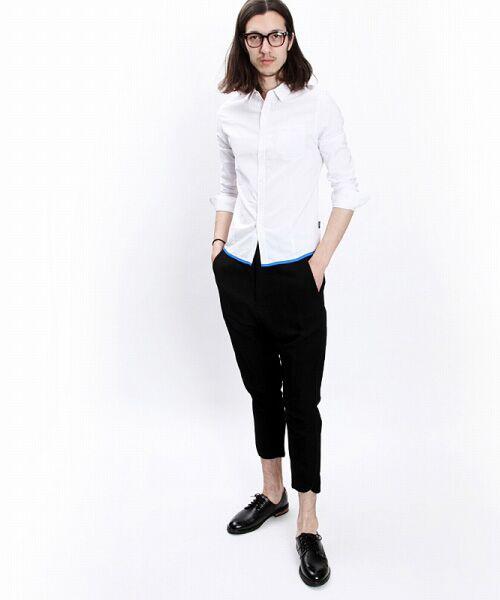 SHIFFON / シフォン シャツ・ブラウス | 【AKM Contemporary】裾カラーパイピングオックスシャツ | 詳細3
