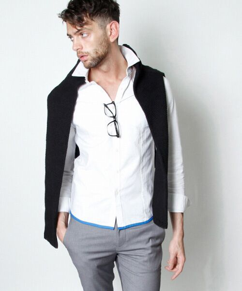 SHIFFON / シフォン シャツ・ブラウス | 【AKM Contemporary】裾カラーパイピングオックスシャツ | 詳細5