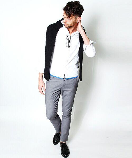 SHIFFON / シフォン シャツ・ブラウス | 【AKM Contemporary】裾カラーパイピングオックスシャツ | 詳細6