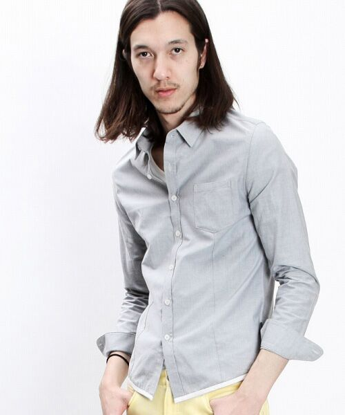SHIFFON / シフォン シャツ・ブラウス | 【AKM Contemporary】裾カラーパイピングオックスシャツ | 詳細13