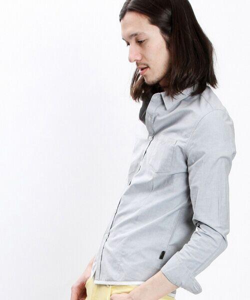 SHIFFON / シフォン シャツ・ブラウス | 【AKM Contemporary】裾カラーパイピングオックスシャツ | 詳細14