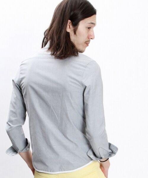 SHIFFON / シフォン シャツ・ブラウス | 【AKM Contemporary】裾カラーパイピングオックスシャツ | 詳細15