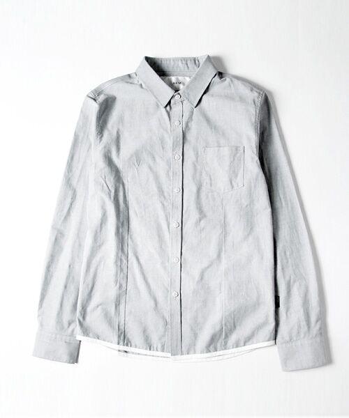 SHIFFON / シフォン シャツ・ブラウス | 【AKM Contemporary】裾カラーパイピングオックスシャツ | 詳細16