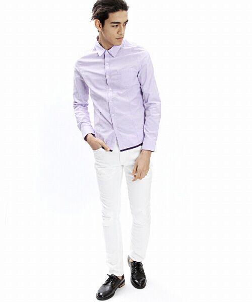 SHIFFON / シフォン シャツ・ブラウス | 【AKM Contemporary】裾カラーパイピングオックスシャツ | 詳細19