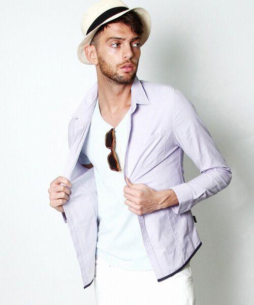 SHIFFON / シフォン シャツ・ブラウス | 【AKM Contemporary】裾カラーパイピングオックスシャツ | 詳細20