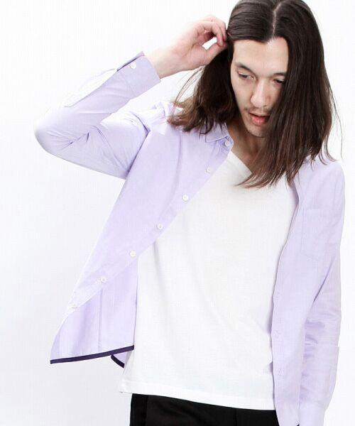 SHIFFON / シフォン シャツ・ブラウス | 【AKM Contemporary】裾カラーパイピングオックスシャツ | 詳細21