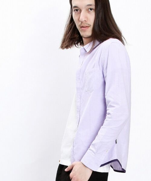 SHIFFON / シフォン シャツ・ブラウス | 【AKM Contemporary】裾カラーパイピングオックスシャツ | 詳細22