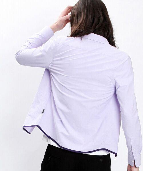 SHIFFON / シフォン シャツ・ブラウス | 【AKM Contemporary】裾カラーパイピングオックスシャツ | 詳細23