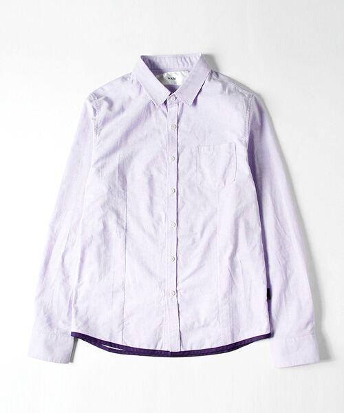 SHIFFON / シフォン シャツ・ブラウス | 【AKM Contemporary】裾カラーパイピングオックスシャツ | 詳細24