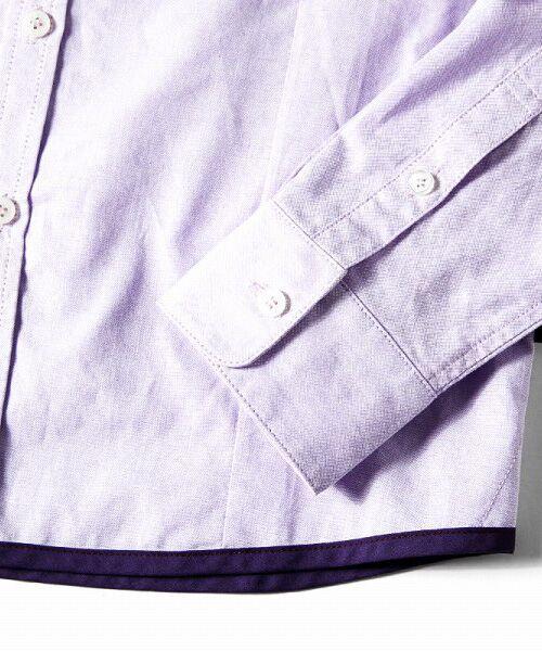 SHIFFON / シフォン シャツ・ブラウス | 【AKM Contemporary】裾カラーパイピングオックスシャツ | 詳細25