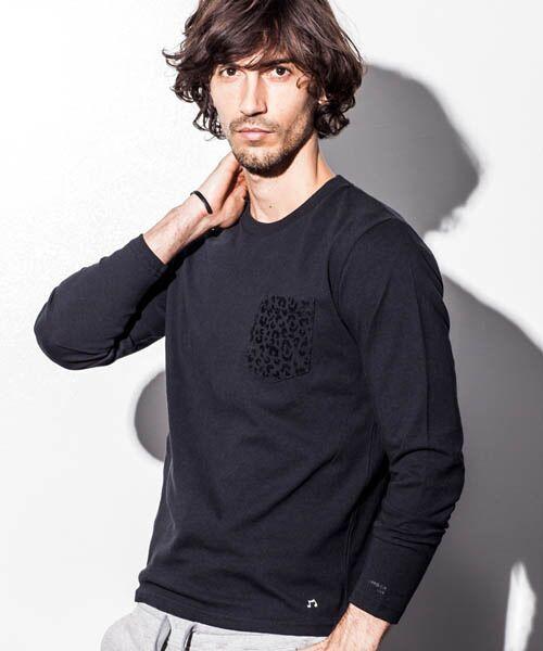 【NUMBER (N)INE DENIM】ポケット柄デザインロングTシャツ