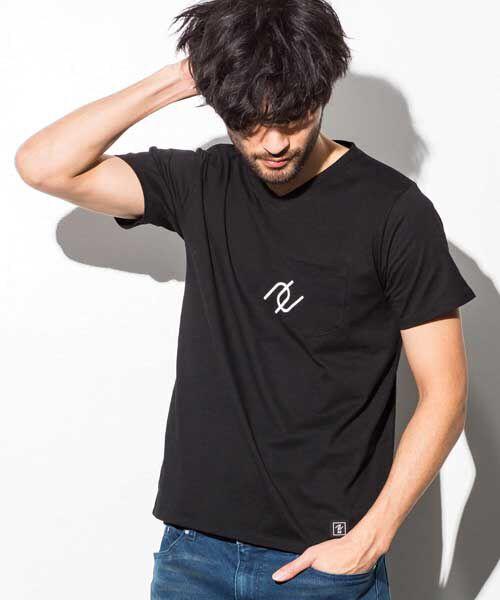 SHIFFON / シフォン Tシャツ | ポケット付アイコンプリントTシャツ | 詳細1