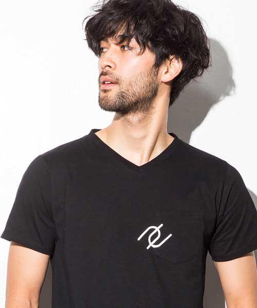 SHIFFON / シフォン Tシャツ | ポケット付アイコンプリントTシャツ | 詳細2