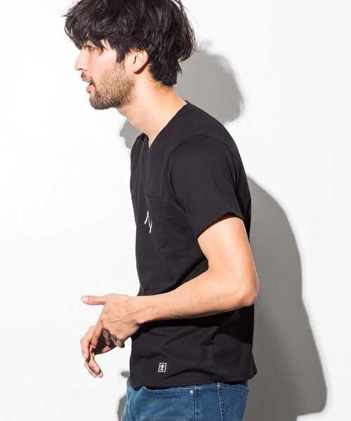 SHIFFON / シフォン Tシャツ | ポケット付アイコンプリントTシャツ | 詳細3