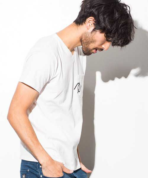 SHIFFON / シフォン Tシャツ | ポケット付アイコンプリントTシャツ | 詳細7