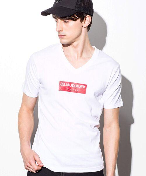 SHIFFON / シフォン Tシャツ | ボックスロゴプリントTシャツ(ホワイト)