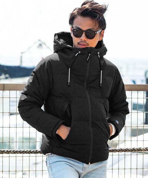 SHIFFON / シフォン ダウンジャケット・ベスト | マウンテン中綿ジャケット(ブラック×ホワイト)