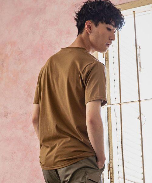 SHIFFON / シフォン Tシャツ   カットオフポケットTシャツ   詳細5