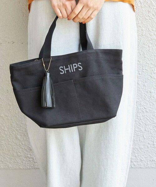 SHIPS for women / シップスウィメン ショルダーバッグ | 一部追加《予約》ポケットトートバッグ(ブラック)