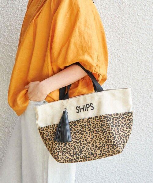 SHIPS for women / シップスウィメン ショルダーバッグ | 一部追加《予約》ポケットトートバッグ(ブラウン)