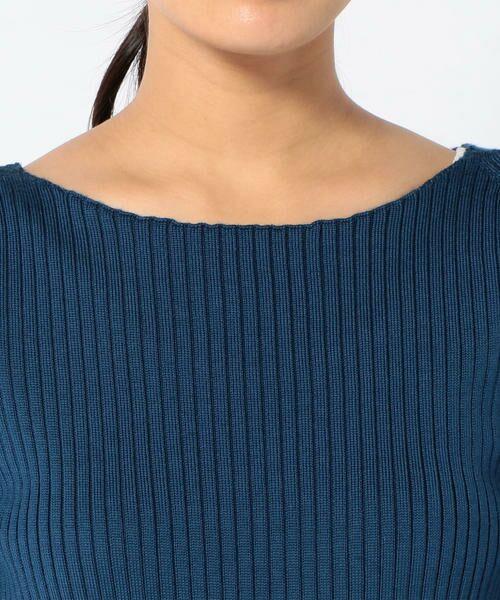 SHIPS for women / シップスウィメン Tシャツ | ウールリブボートネックプルオーバー◆ | 詳細18