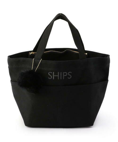 SHIPS for women / シップスウィメン トートバッグ | ポケットトートバッグ(ブラック)