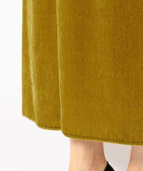 SHIPS for women / シップスウィメン ロング・マキシ丈スカート | Prefer SHIPS: フロントスリットベルベットスカート | 詳細7
