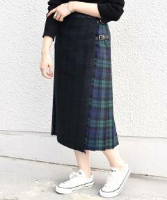 ONEIL OF DUBLIN:ブラックウォッチコンビキルトスカート