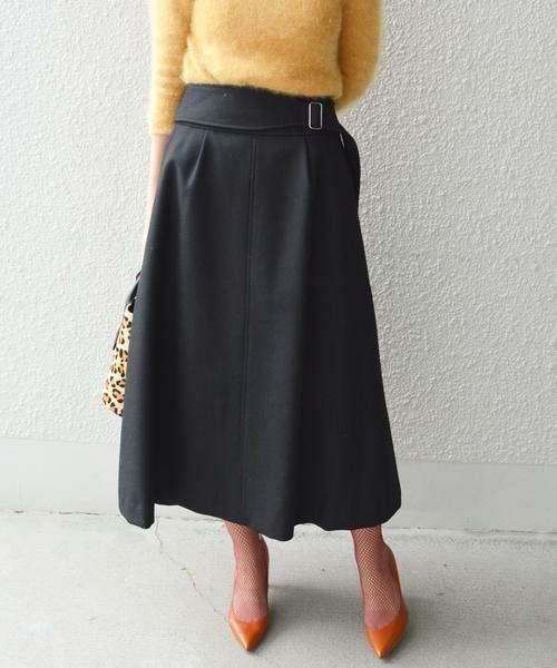 SHIPS for women / シップスウィメン ロング・マキシ丈スカート | Prefer SHIPS: ウールグルカスカート(ブラック)