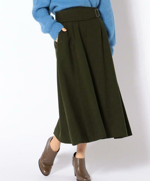 SHIPS for women / シップスウィメン ロング・マキシ丈スカート | Prefer SHIPS: ウールグルカスカート(オリーブ)