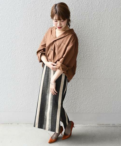 SHIPS for women / シップスウィメン ミニ・ひざ丈スカート | Prefer SHIPS: マルチストライプスカート | 詳細1