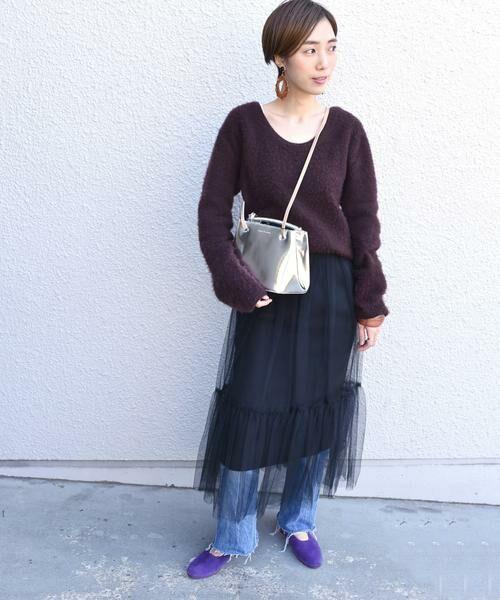 SHIPS for women / シップスウィメン ロング・マキシ丈スカート | Prefer SHIPS: チュールレイヤードギャザースカート | 詳細2